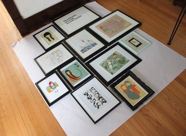Comment disposer des tableaux pour une d co design id e - Faire un mur de tableaux ...