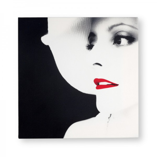delicieux tableau noir et blanc avec touche de couleur #12