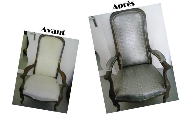 Restaurer un fauteuil avec un tissu d 39 ameublement idee - Restaurer un fauteuil ...