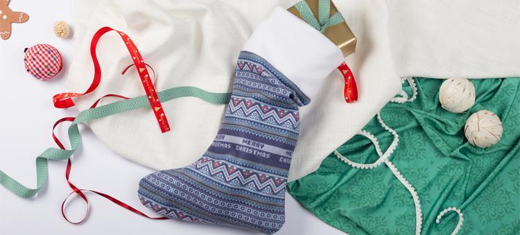 bannière chaussette de Noel