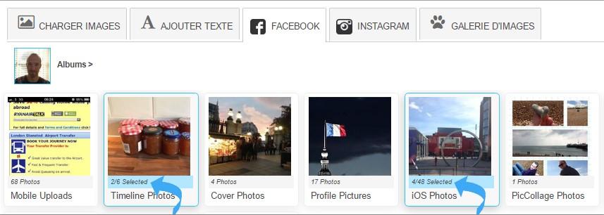 cadeaux personnalisés avec vos photos de Facebook