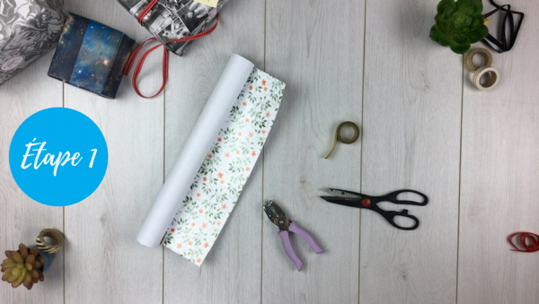 fabriquer pochette cadeau étape 1