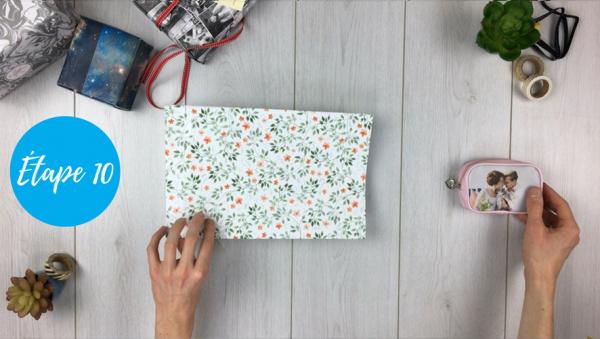 fabriquer pochette cadeau étape 10