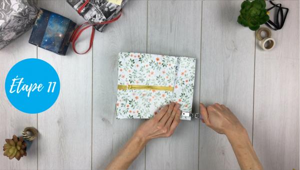 fabriquer pochette cadeau étape 11