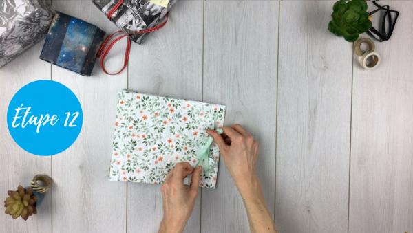 fabriquer pochette cadeau étape 12