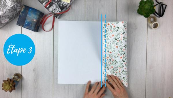 fabriquer pochette cadeau étape 3