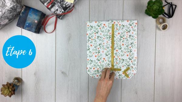 fabriquer pochette cadeau étape 6