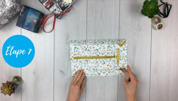 fabriquer pochette cadeau étape 7