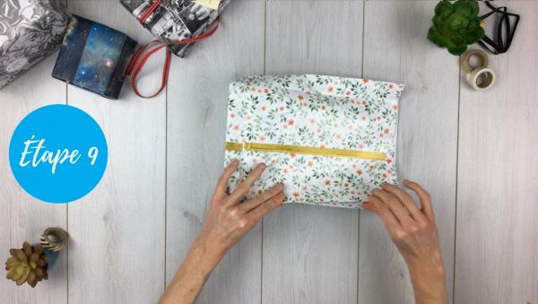 fabriquer pochette cadeau étape 9