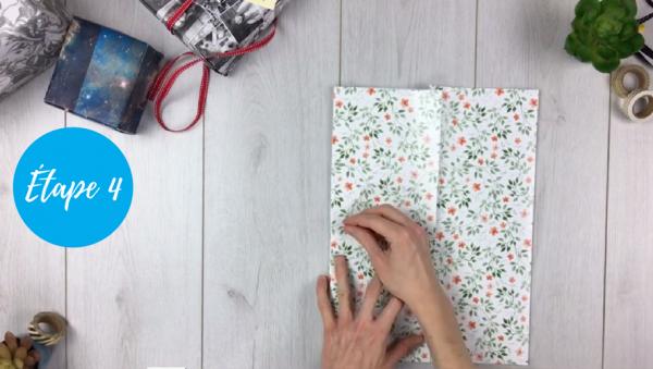 fabriquer pochette cadeau étape 4