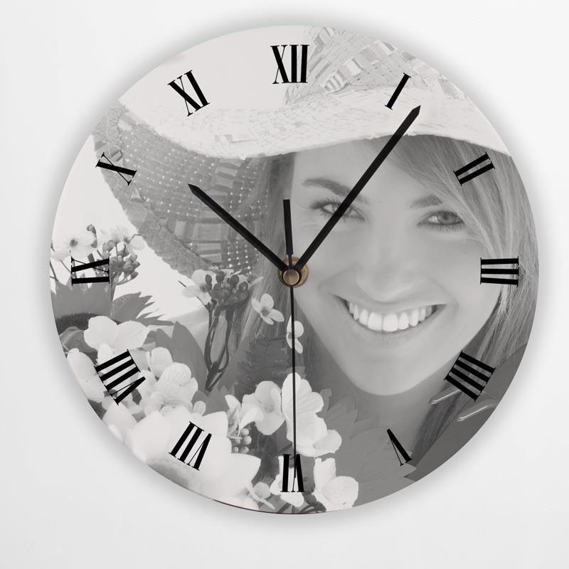 horloge ronde personnalis e imprimez votre horloge photo. Black Bedroom Furniture Sets. Home Design Ideas