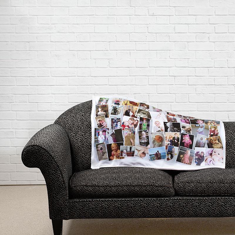 montage plaid personnalis sur le canap. Black Bedroom Furniture Sets. Home Design Ideas