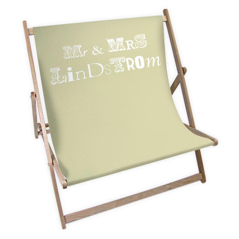 transat double personnalis mr mme impression sur transat. Black Bedroom Furniture Sets. Home Design Ideas