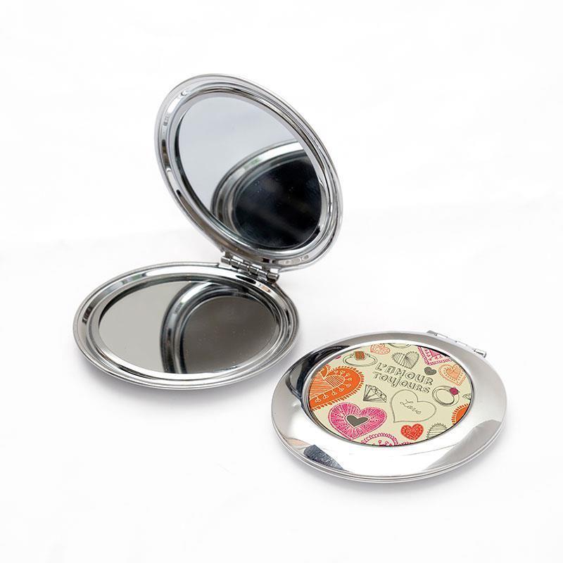 Miroir de poche photo objets imprim s id e cadeau photo for Miroir petit prix