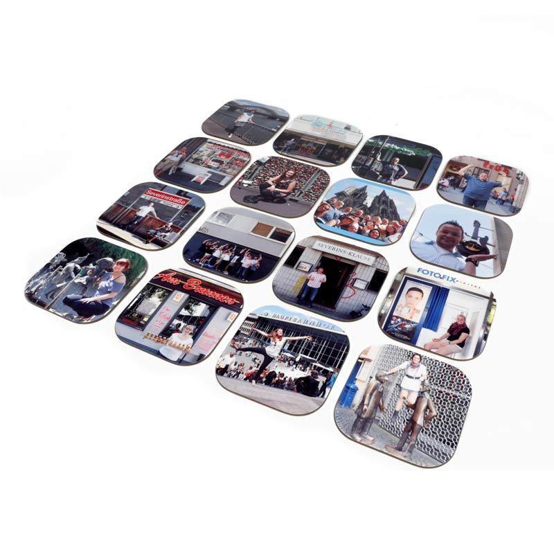les dessous de verres personnalis s avec vos photos. Black Bedroom Furniture Sets. Home Design Ideas